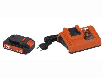 Powerplus Dual Power POWDP9060 accu 20V Li-Ion 1,5Ah + lader 20V/40V
