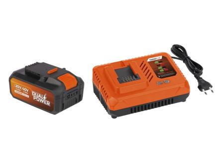 Powerplus Dual Power POWDP9064 acculader 20V/40V + accu 40V Li-Ion 2.5Ah