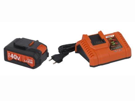 Powerplus Dual Power POWDP9065 batterie 40V Li-Ion 2Ah + chargeur 20V/40V