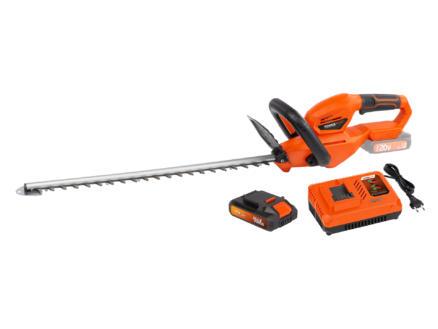 Powerplus Dual Power POWDPG75320 taille-haies sans fil 20V 56cm + chargeur