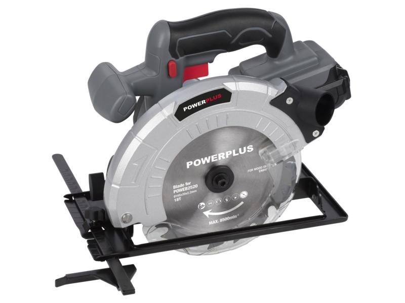 Powerplus POWEB2520  scie circulaire sans fil 18V Li-Ion 165mm batterie non comprise
