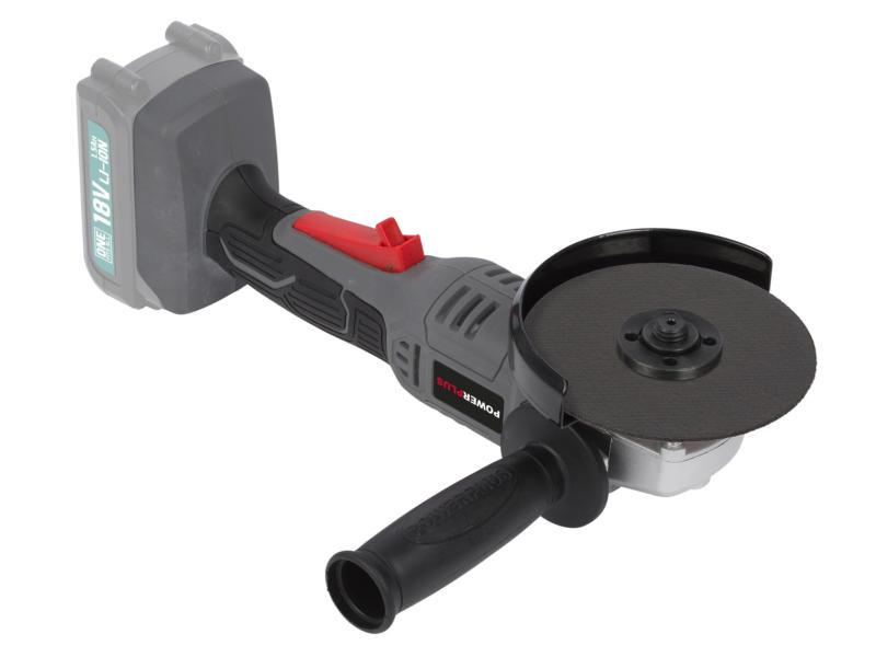 Powerplus POWEB3510 accu haakse slijper 18V Li-Ion 115mm zonder accu