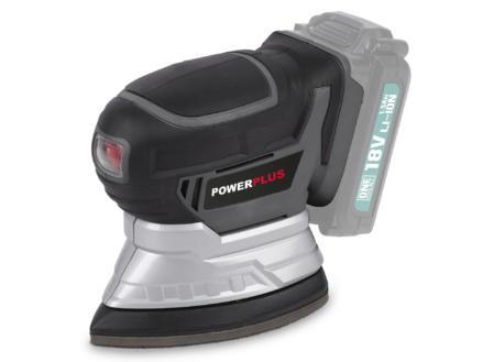 Powerplus POWEB4020 ponceuse à main sans fil 18V Li-Ion batterie non comprise + 6 feuilles de ponçage