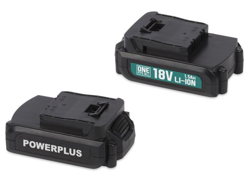 Powerplus POWEB9090 accu 18V Li-Ion 1,5Ah 2 stuks + 2 laders