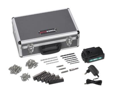Powerplus POWESET1 schroefboormachine 18V Li-Ion met 2 accu's + 153 accessoires