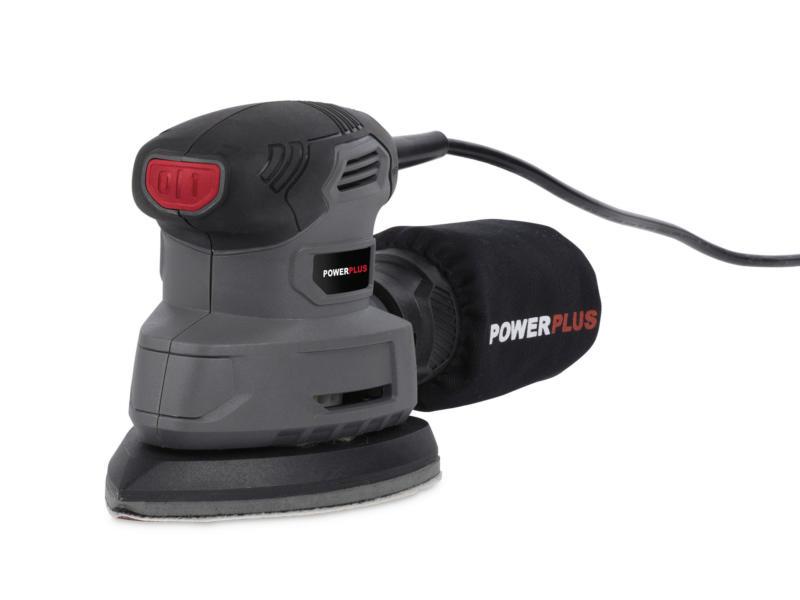 Powerplus POWESET5 ponceuse à main 140W + 100 feuilles abrasives