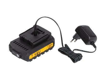 Powerplus POWX00425 perceuse-visseuse 16V Li-Ion + 2 batteries