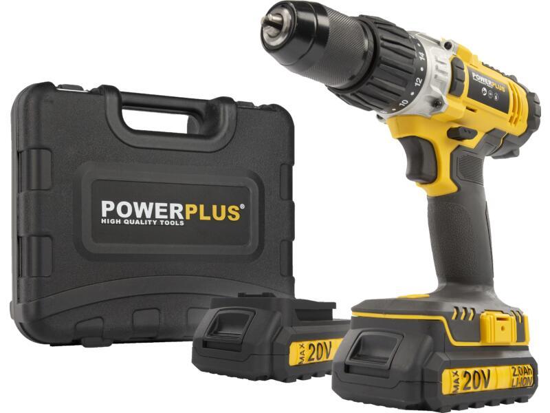 Powerplus X POWX00445 accu klopboorschroefmachine 20V Li-Ion + 2 batterijen