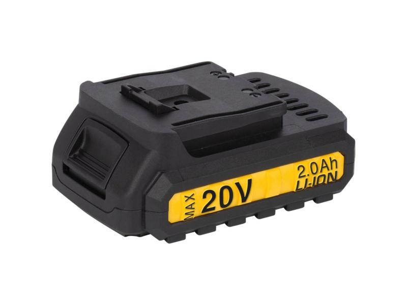 Powerplus POWX00445 perceuse-visseuse à percussion 20V Li-Ion + 2 batteries