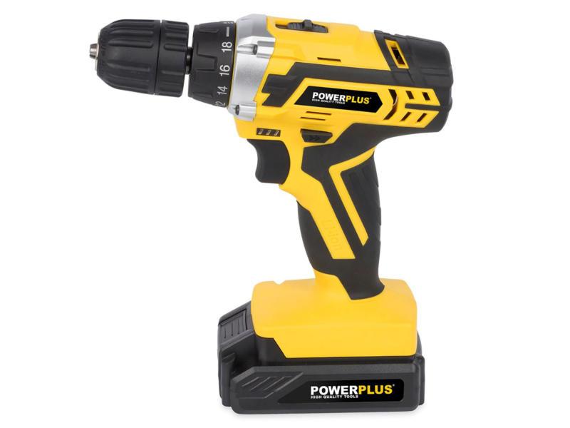 Powerplus POWX00820 perceuse-visseuse sans fil 20V Li-Ion + 2 batteries et 74 accessoires