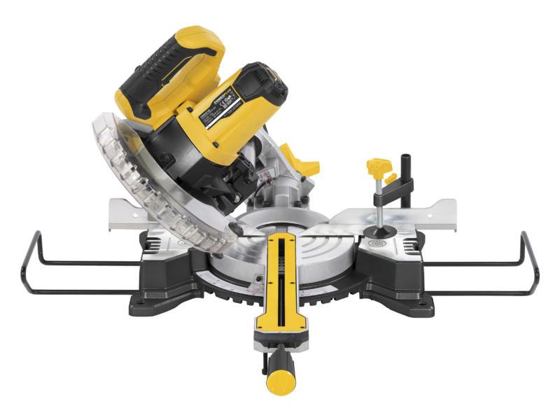 Powerplus X Garden POWX075710S scie à onglet télescopique 1600W 210mm