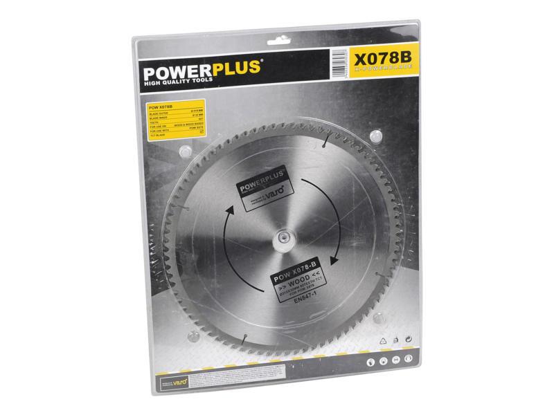 Powerplus POWX078B lame de scie circulaire 315mm 80D