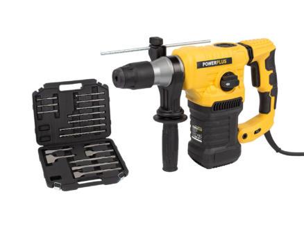 Powerplus POWX1196 marteau-perforateur SDS-Plus 1600W + 17 accessoires