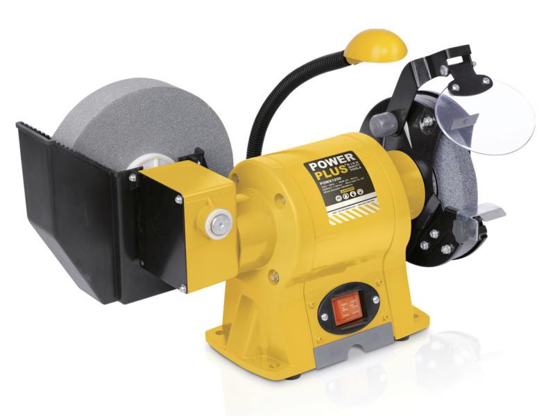 Powerplus POWX1250 bankslijpmolen 350W 150mm nat/droog