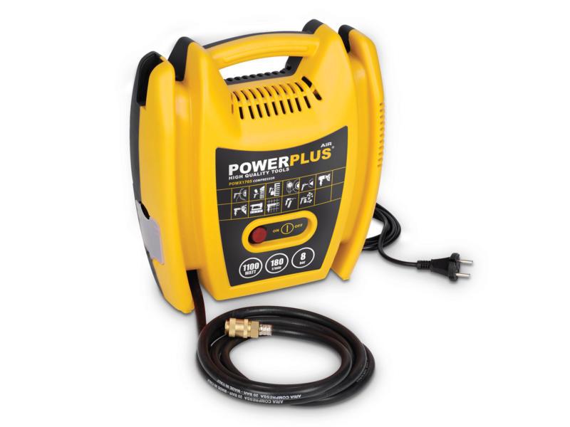 Powerplus POWX1705 compressor 1100W olievrij