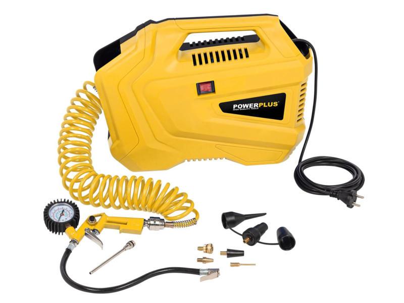 Powerplus X POWX1706 compressor 1100W olievrij + 11 accessories