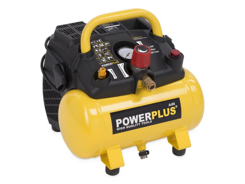 Powerplus POWX1722 compresseur 1100W 6l sans huile