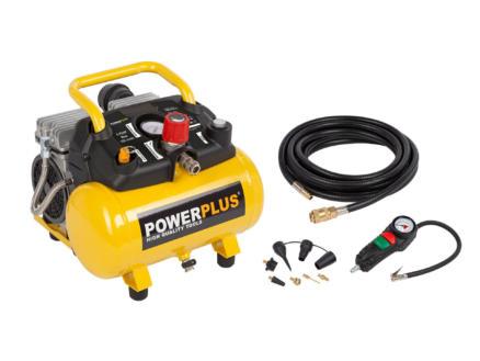 Powerplus POWX1724S compressor 550W 6l olievrij + 10 accessoires
