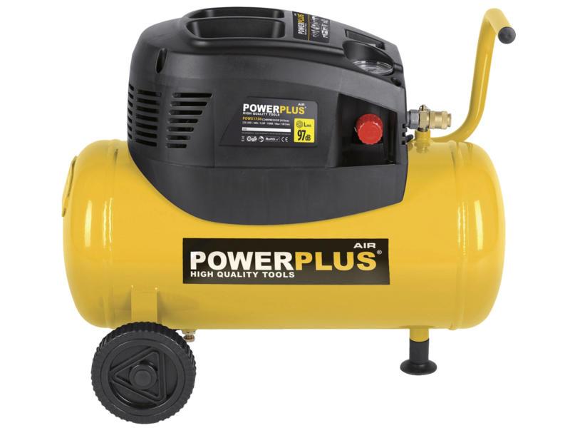 Powerplus POWX1730 compressor 1100W 24l olievrij