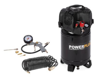 Powerplus POWX1731 compressor 1100W 24l olievrij + 6 accessoires