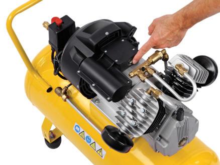 Powerplus POWX1770 compresseur 2200W 50l lubrifié