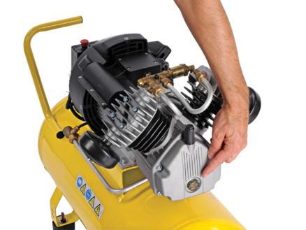 Powerplus POWX1770 compressor 2200W 50l oliegesmeerd