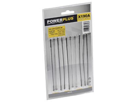 Powerplus POWX190A set de lame de scie à chantourner 10 pièces