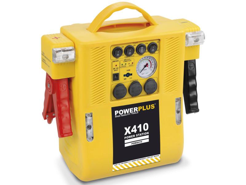 Powerplus X POWX410 station d'énergie avec compresseur 4-en-1 12V 6A