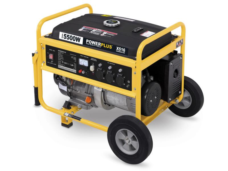 Powerplus POWX516 groupe électrogène 5500W 25l