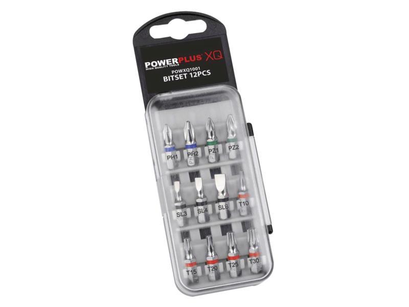 Powerplus POWXQ1001 set d'embouts PH/PZ/SL/TX 12 pièces