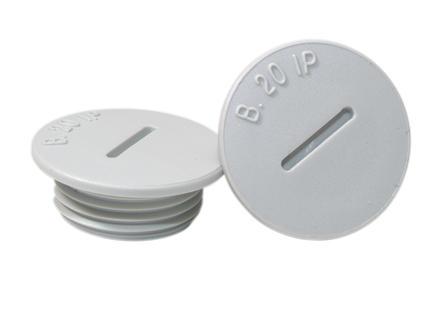 PVC stop PG16 2 stuks