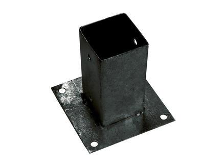 Giardino Paalhouder met voet 7x7 cm verinkt zwart