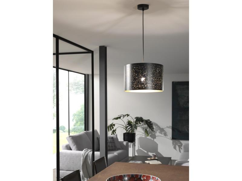 MEO Padua hanglamp E27 40W zwart/goud