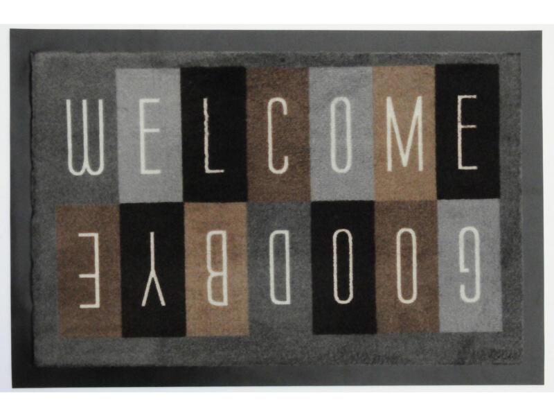 Paillasson antisalissant welcome damier 40x60 cm