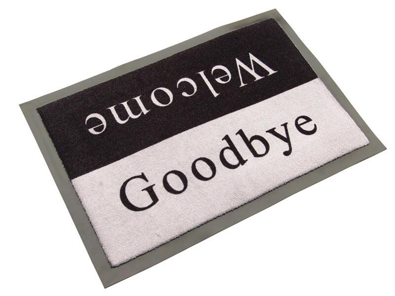 Paillasson antisalissant welcome/goodbye 40x60 cm