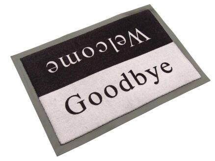 Paillasson antisalissant welcome/goodbye 60x80 cm