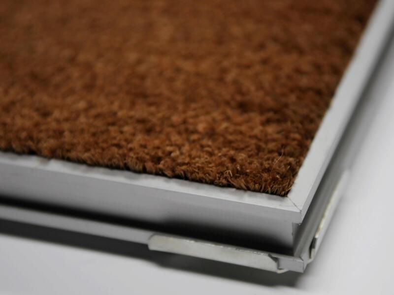 Paillasson coco avec cadre alu 60x80 cm