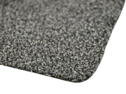 Paillasson en coton 100x150 cm gris