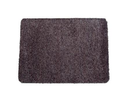Paillasson en coton 75x100 cm anthracite