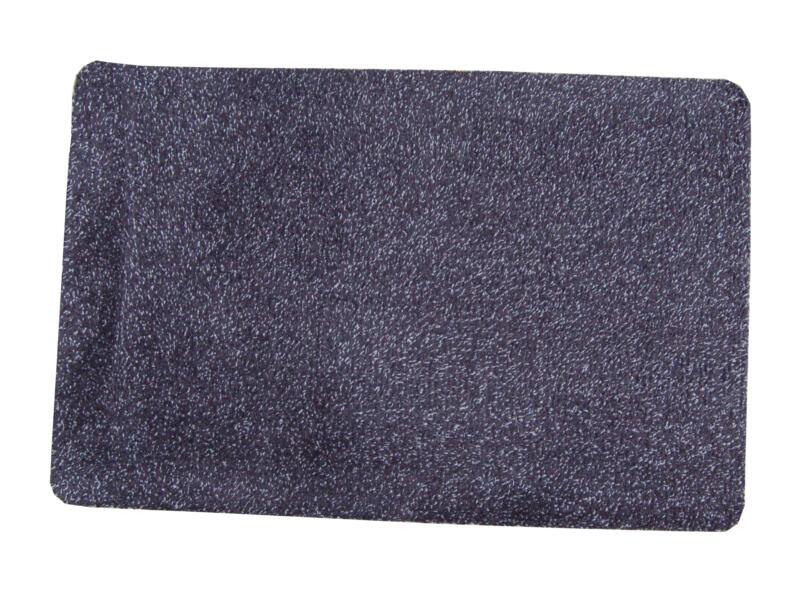 Paillasson en coton 75x100 cm basalte