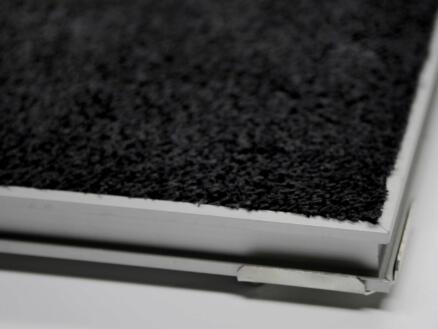 Paillasson en coton avec cadre alu 40x60 cm anthracite