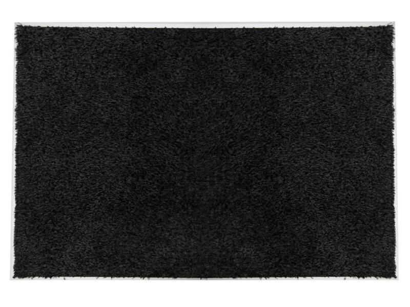 Paillasson en coton avec cadre alu 60x80 cm anthracite
