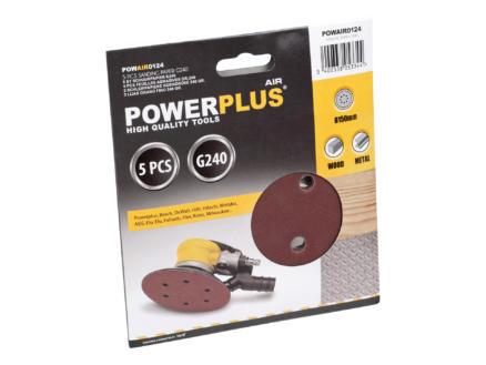 Powerplus Air Papier abrasif 150 G240 5 pièces POWAIR0124