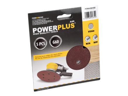 Powerplus Air Papier abrasif 150 G60 5 pièces POWAIR0122