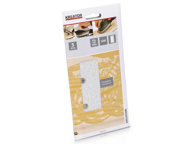 Kreator Papier abrasif G40 187x93 mm peinture KRT201553