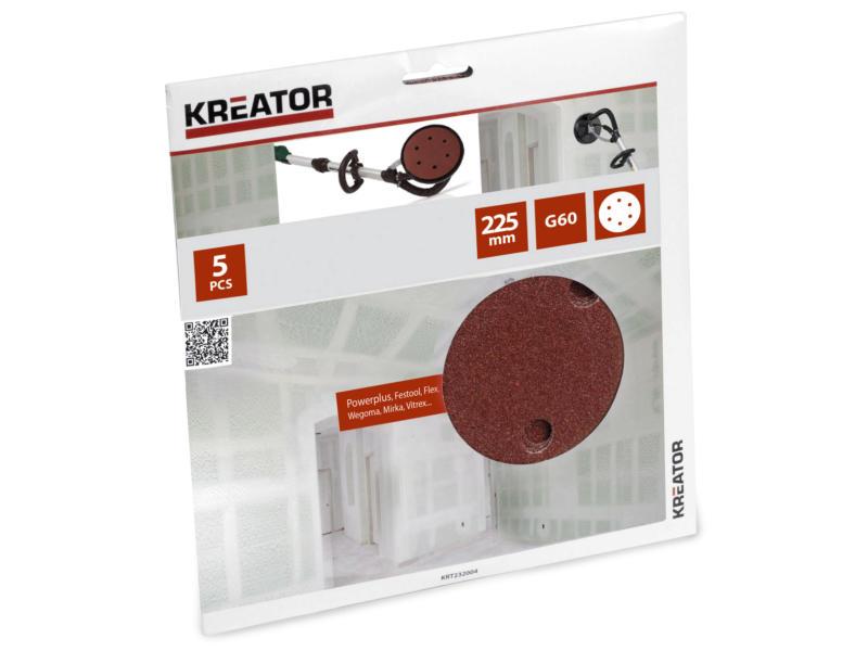 Kreator Papier abrasif G60 225mm KRT232004