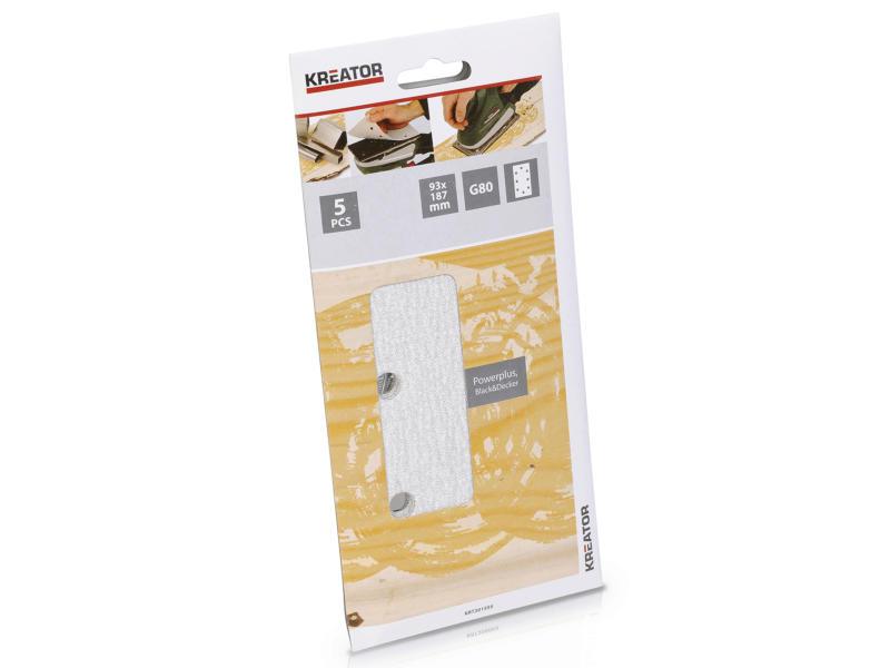 Kreator Papier abrasif G80 187x93 mm peinture KRT201555