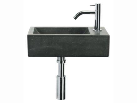 Differnz Patra Stone lave-mains 40x23 cm pierre bleue + robinet