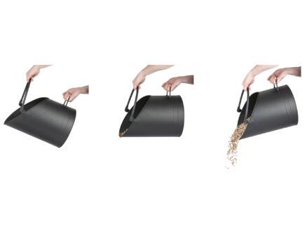 Practo Home Pelletemmer H40cm zwart