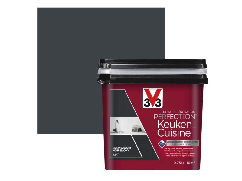 V33 Perfection peinture rénovation cuisine mat 0,75l noir smoky